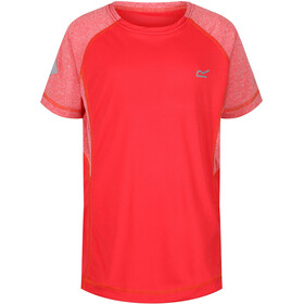 Regatta Dazzler II T-Shirt Girls Coral Blush/Coral Blush Reflective